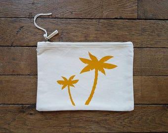 Zipper pouch Palm (size L)