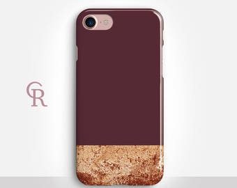 Maroon iPhone 7 Case For iPhone 8 iPhone 8 Plus - iPhone X - iPhone 7 Plus - iPhone 6 - iPhone 6S - iPhone SE - Samsung S8 - iPhone 5
