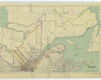 Quebec Map - 1911