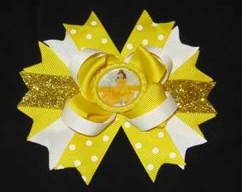 Belle boutique hair bow, Beauty and the Beast hair bow