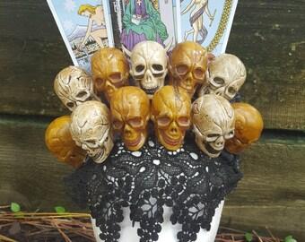 Voodoo Queen Tarot and Skulls Headpiece Witch Crown
