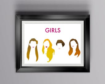 Girls print for home decor, alternative poster of Girls, wall art for series lovers