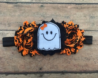 Ghost Headband - Ghost Hairbow - Ghost Bow - Halloween Headband - Halloween Baby - Halloween Hair Bow - Halloween Bow - Halloween Hair Clip