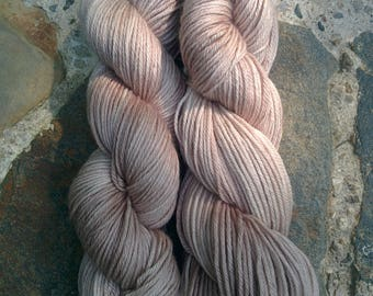 Hand Dyed Yarn, Worsted Weight Merino, Cafe au Lait