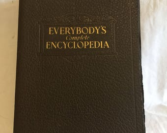 Vintage Book Everybody's Complete Encyclopedia 1940s