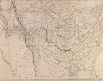 Poster, Many Sizes Available; Map Of Interior Of United States Of America 1814