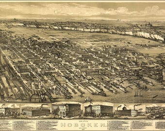 Poster, Many Sizes Available; Map Of City Of Hoboken, New Jersey, 1881