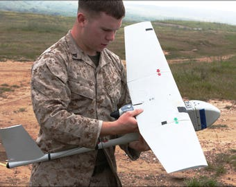 Poster, Many Sizes Available; Marine Corps 1St Air Naval Gunfire Rq-11A Raven Uav Drone
