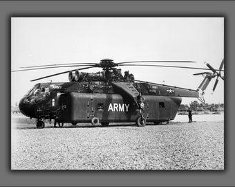 Poster, Many Sizes Available; U.S. Army Sikorsky Ych-54A Ch-54 Tarhe Helicopter Vietnam War 1966