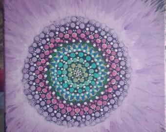 Mandala in Acrylic by @findingzenith !!
