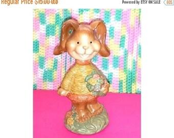 Vintage Bobblehead Bunny,Easter Rabbit,Bobblehead,Big Eyes,Bunny,Rabbit,Bunny Rabbit,Easter,Easter Bunny,Kitsch,Kawaii,Kitschy Cute