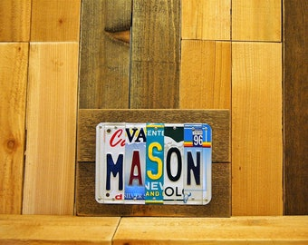 Boy's / Girl's College Dorm Room Decor Custom License Plate Name Sign