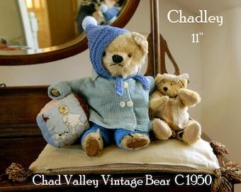 "Vintage Chad Valley Teddy bear - c1940/50 11"""