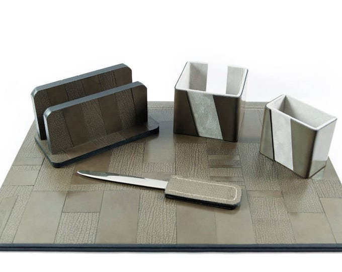 MOSAIC Leather Desk Set