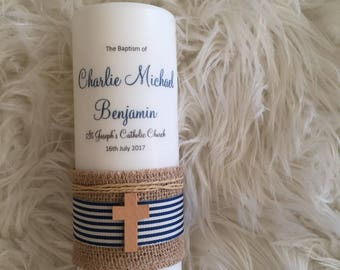 Boy baptism candle, baptism candle, baptism, christening candle
