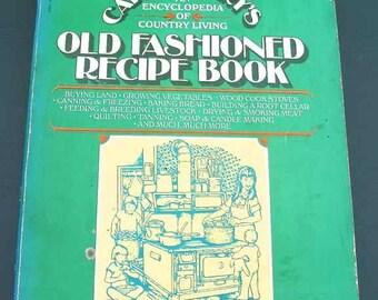 1977 Carla Emery's Old Fashioned Recipe Book Paperback Bantam Book