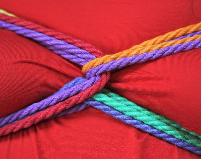 Featured listing image: Rainbow Hemp Bondage Rope Shibari Rope
