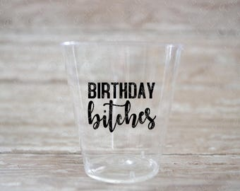 Bitches Etsy - Vinyl decals for shot glasses