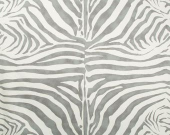 LEE JOFA KRAVET Zebra Cotton Linen Fabric 10 Yards Dove Gray