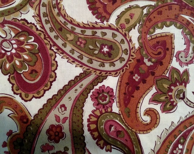 Rust, Sage and Cream Paisley stock tie