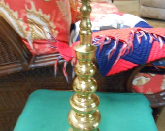 Large HOMCO Brass Candle Stick Holder