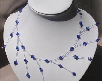 Blue wedding necklace