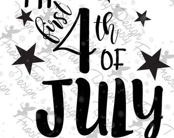 My First 4th of July SVG Cutting file