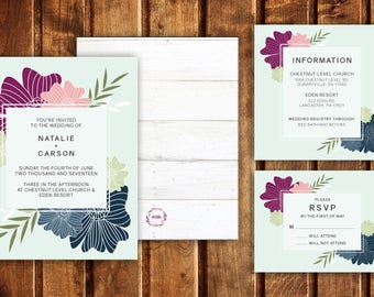 Floral Fantasy Wedding Invitations