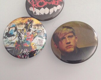 """Assorted 1.5"""" My Chemical Romance Pinback Buttons"""