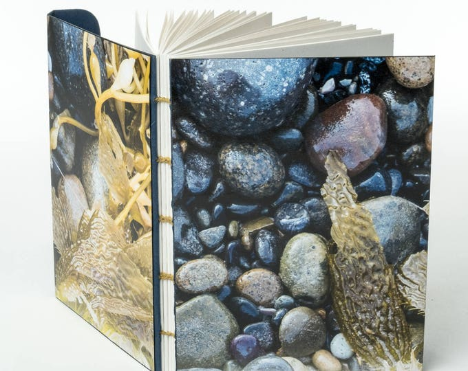 "AT THE SEASHORE | 144 ~5.5x4"" blank pages w/ clasp closure 