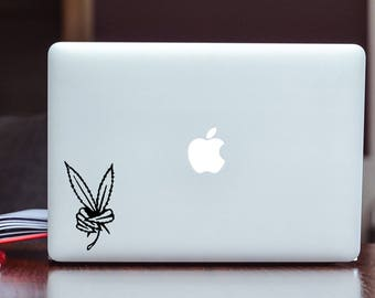 Weed Peace Vinyl Decal Sticker Choose your Color and Size