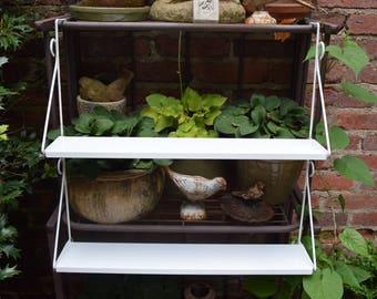 Vintage Retro White Metal Window Planter/Shelves in Original Box