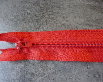 Red zipper 19 cm ideal for all your creations