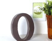Lettre O en bois ,largeur étroite, taupe patiné pour une décoration personnalisée, un mariage, un anniversaire _ mylittledecor
