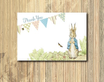 Vintage Peter Rabbit Thank you Note printable/INSTANT DOWNLOAD/4x6/peter rabbit notecard/peter rabbit stationery/peter rabbit note