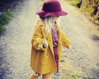 Little Girls Felt Wool Hat