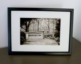 "Charcoal Art Print | A5 | 5""x7"" 
