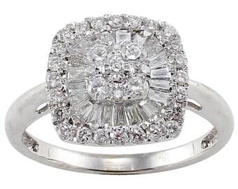 Dazzling Array Diamond Ring