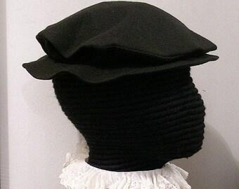 Wool Tudor Hat - Elizabethan Flat Cap - Renaissance