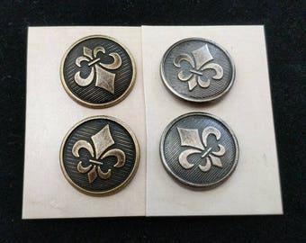 Fleur de Lis Shank Buttons - French - Renaissance - SCA Heraldry