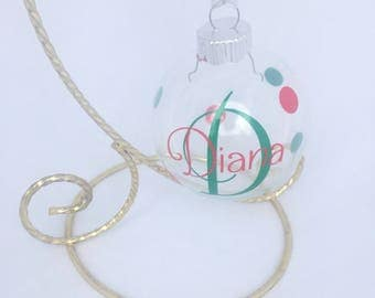 Personalized Ornaments, Monogrammed Ornaments, Personalized Christmas Ornaments, Glass Personalized Ornaments, Christmas Personalized