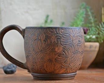 Clay mug, pottery ceramic cup, tea cup, tea mug, teamug, teacup