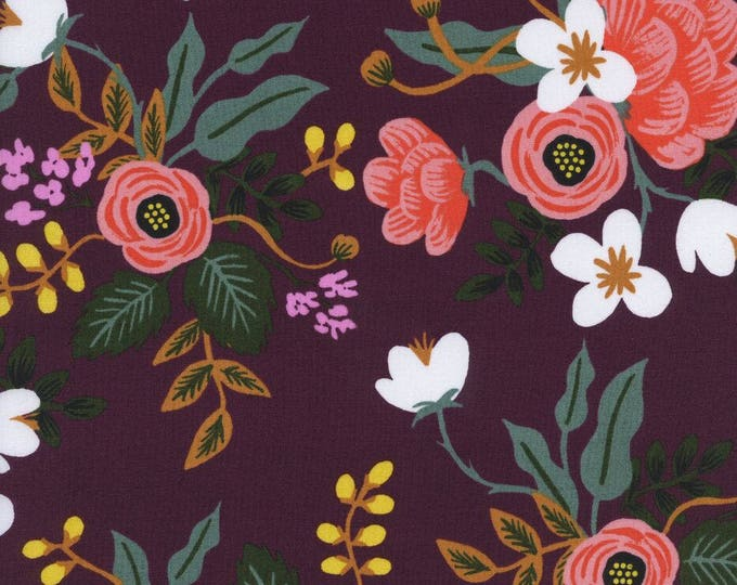 Menagerie by Rifle Paper Co for Cotton + Steel - Birch Eggplant - Rayon Fabric