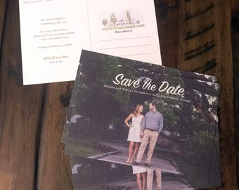 100 Photo Save the Date Postcards