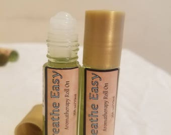Breathe Easy Aromatherapy Roll On, Eucalyptus aromatherapy, peppermint aromatherapy