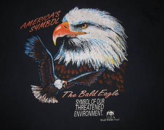 vintage BALD EAGLE Shirt - sz xl - harley davidson biker indie hipster t-shirt wwf early 90s