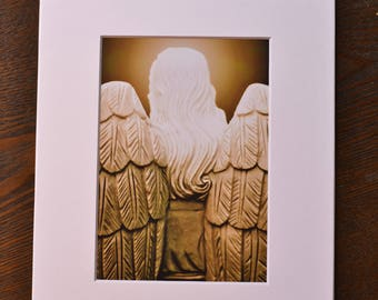Matted Angel Prints