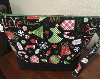 Christmas Project Bag Knitting and Crochet Holiday