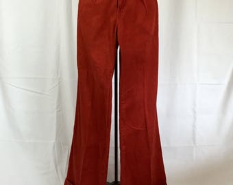 1970's High Waisted Wide Leg Pant
