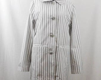 Vintage BETTY BARCLAY Jacket, Striped Black and Waith, Women's Blazer by Betty Barclay,  Summer Jacket, Polyester, Long Sleeve
